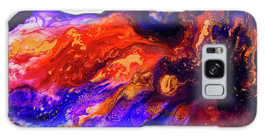 Art Galaxy S8 Case featuring the painting Jewel Flow by Karen Towey