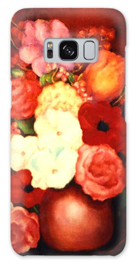 Flowers Galaxy S8 Case featuring the painting Jewel Flowers by Jordana Sands