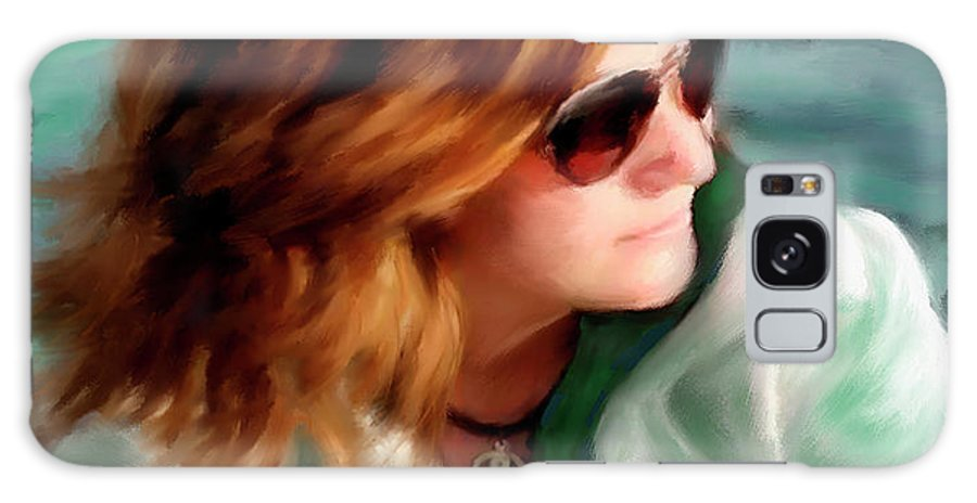 Red Head Galaxy S8 Case featuring the painting Jewel Of Contemplation by Colleen Taylor