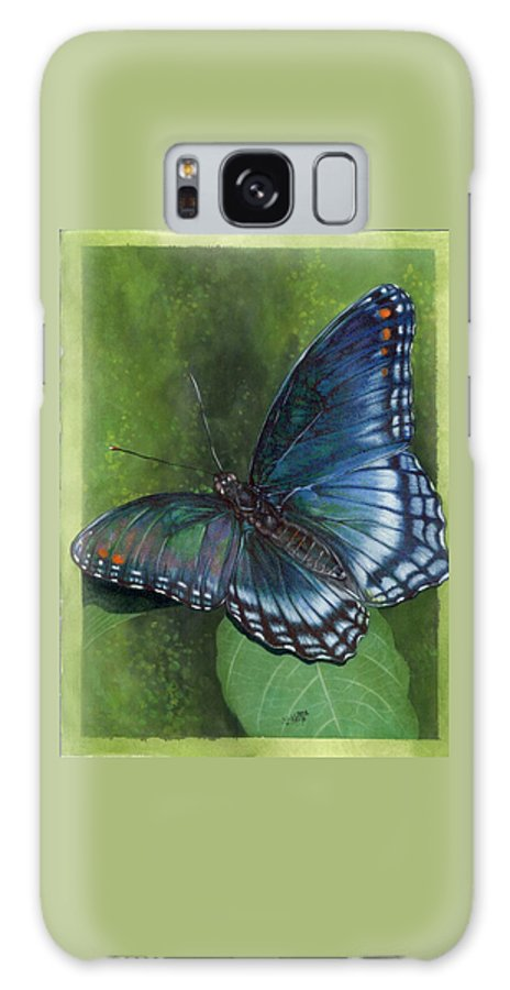 Insects Galaxy S8 Case featuring the mixed media Jewel Tones by Barbara Keith
