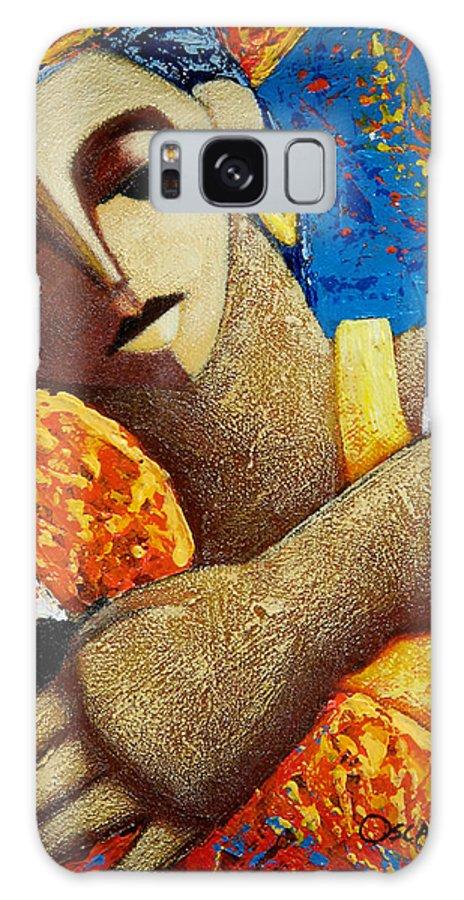 Puerto Rico Galaxy S8 Case featuring the painting Jibara y Sol by Oscar Ortiz