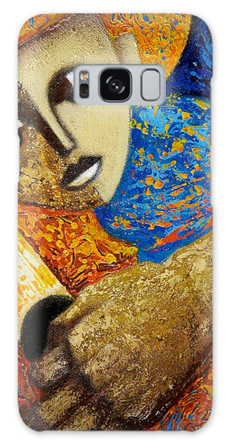 Color Galaxy S8 Case featuring the painting Jibaro Y Sol by Oscar Ortiz
