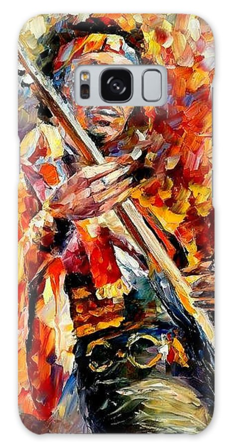 Music Galaxy S8 Case featuring the painting Jimi Hendrix by Leonid Afremov