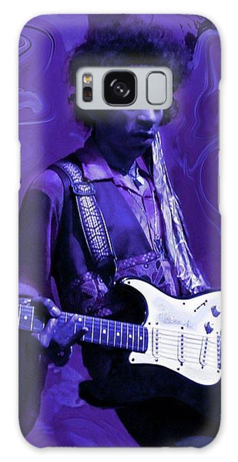 Jimi Hendrix Galaxy Case featuring the photograph Jimi Hendrix Purple Haze by David Dehner