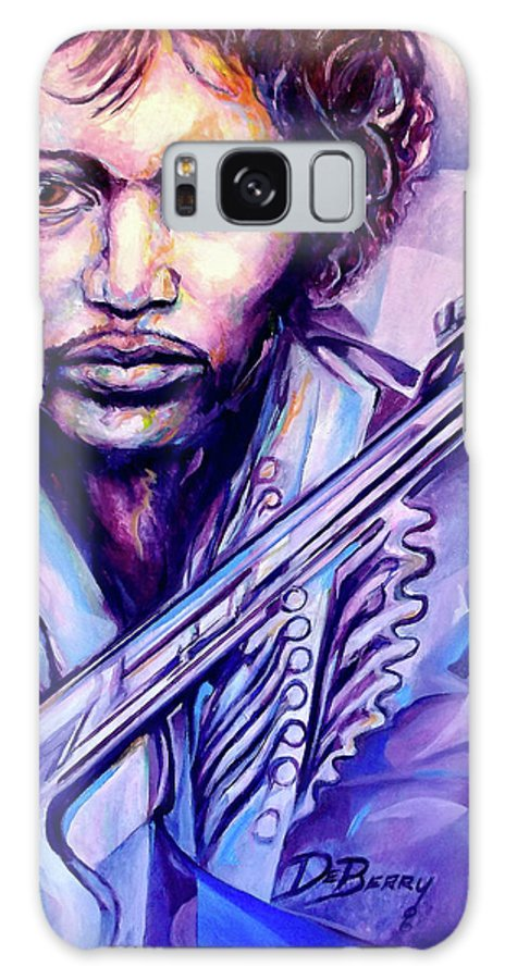 Galaxy Case featuring the painting Jimi by Lloyd DeBerry