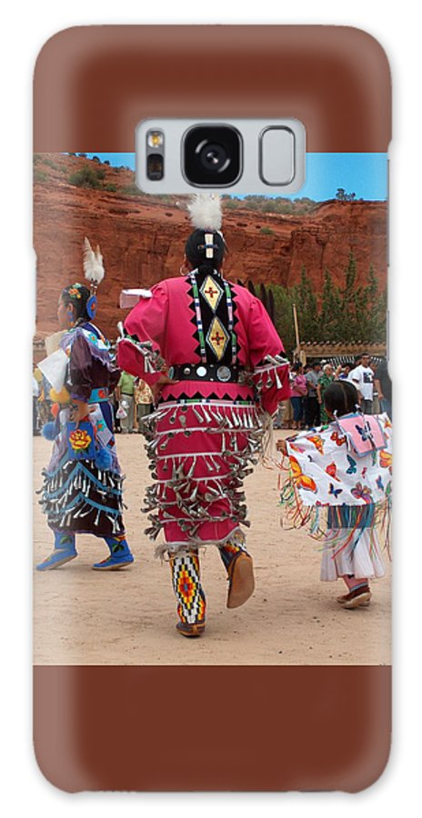 Pow-wow Galaxy S8 Case featuring the photograph Jingle Dress And Fancy Shawl Dancers by Tim McCarthy