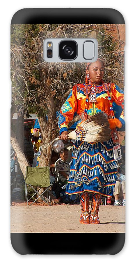 Pow-wow Dancer Galaxy S8 Case featuring the photograph Jingle Dress Dancer At Star Feather Pow-wow by Tim McCarthy