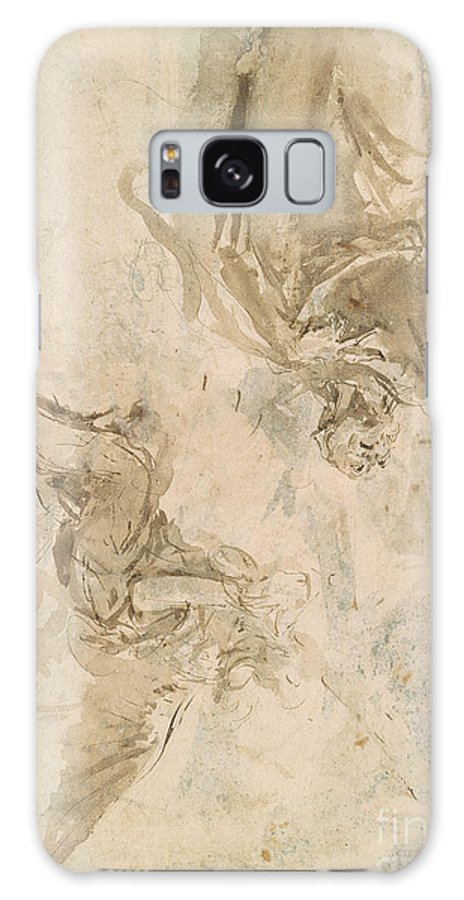 Giovanni Battista Tiepolo Galaxy S8 Case featuring the painting Joachim And The Angel by MotionAge Designs