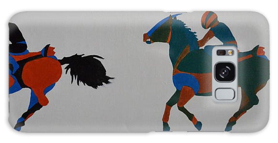 Jockey Galaxy S8 Case featuring the painting Jockey by Vykky Gamble