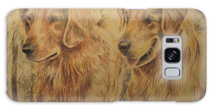 Dogs Galaxy Case featuring the drawing Joe's Dogs by Larry Whitler