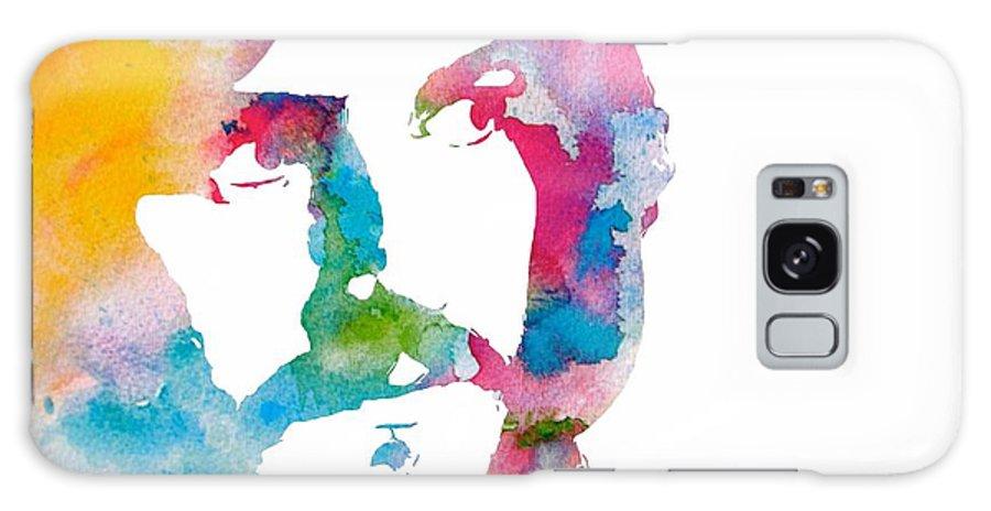 John Bonham Watercolor Galaxy Case featuring the digital art John Bonham Watercolor by Dan Sproul