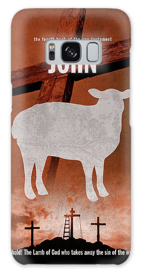 John Galaxy Case featuring the mixed media John Books Of The Bible Series New Testament Minimal Poster Art Number 04 by Design Turnpike