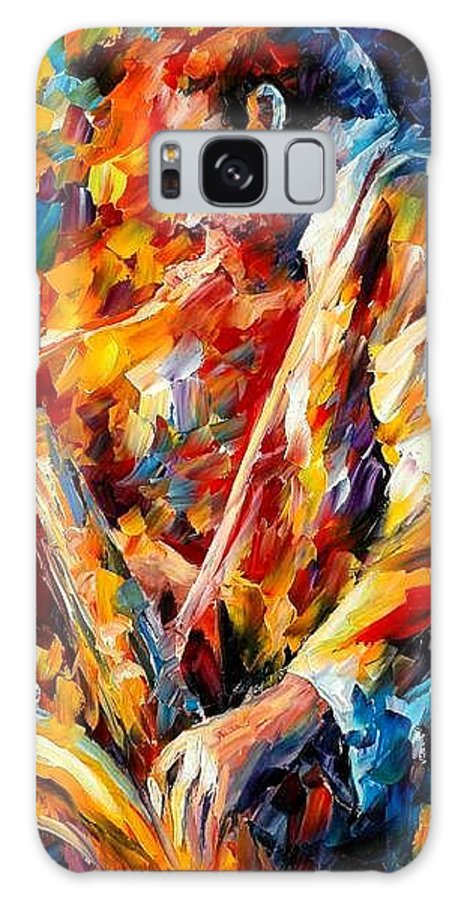 Music Galaxy S8 Case featuring the painting John Coltrane by Leonid Afremov