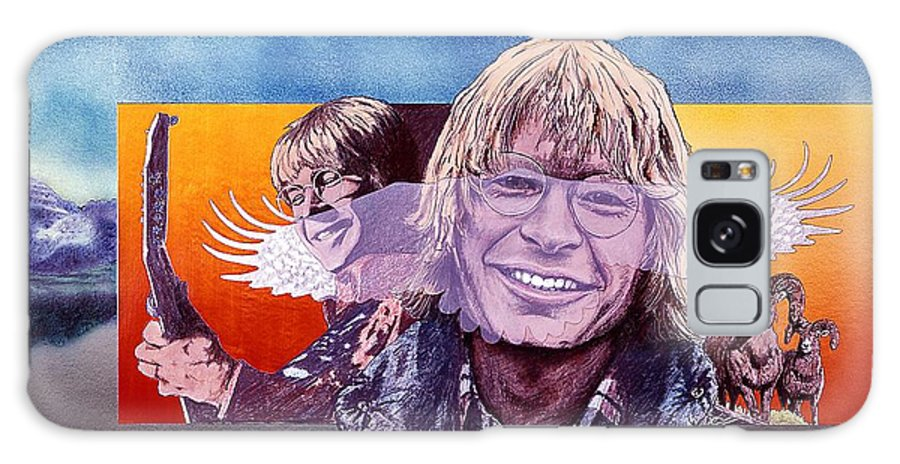 John Denver Galaxy Case featuring the mixed media John Denver by John D Benson