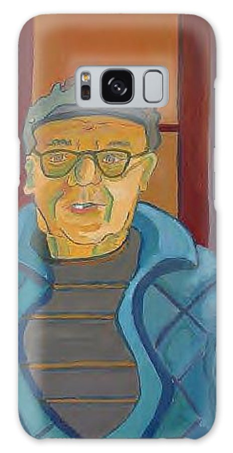 Portrait Galaxy Case featuring the painting John Paris by Debra Bretton Robinson
