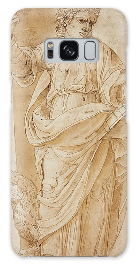 Ottavio Semino Galaxy S8 Case featuring the painting John The Baptist by Ottavio Semino