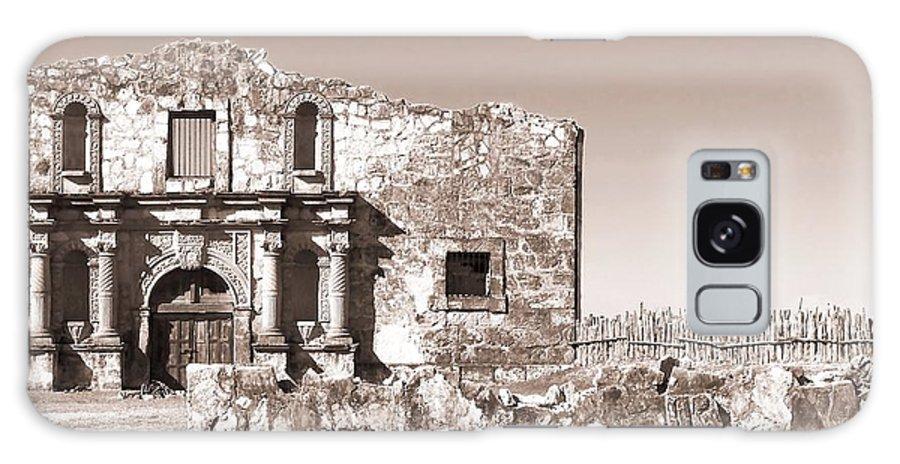 Alamo Galaxy S8 Case featuring the photograph John Wayne's Alamo Mission by Mona Davis
