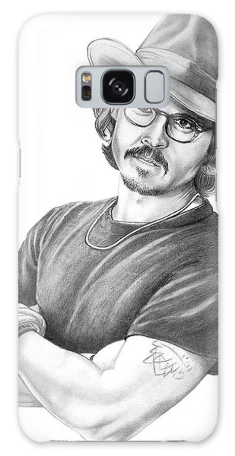 Johnny Depp Galaxy Case featuring the drawing Johnny Depp by Murphy Elliott