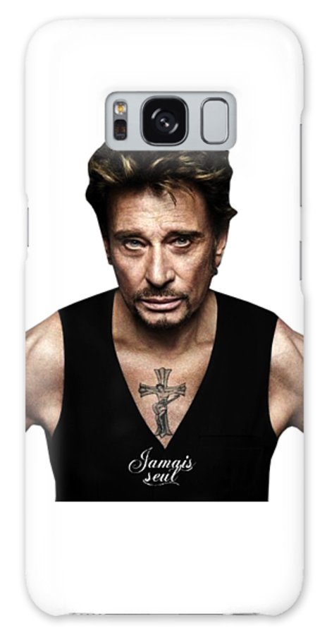 Johnny Hallyday Galaxy S8 Case featuring the digital art Johnny Hallyday by Dominic Fransisce