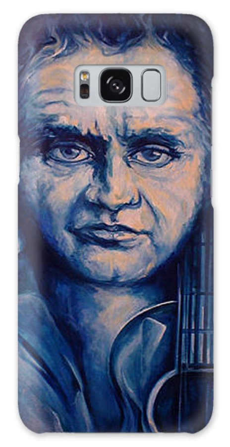 Johnny Cash Original Painting Galaxy S8 Case featuring the painting Johnny by Lloyd DeBerry