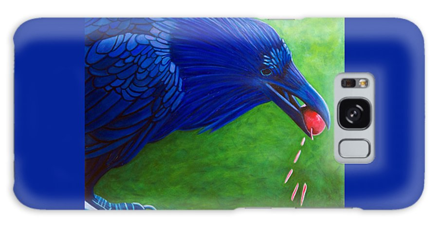 Raven Galaxy Case featuring the painting Joie De Vivre by Brian Commerford