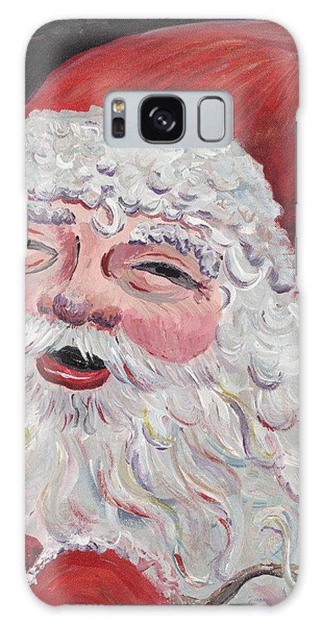 Santa Galaxy Case featuring the painting Jolly Santa by Nadine Rippelmeyer