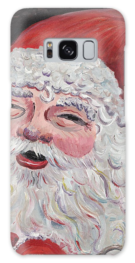 Santa Galaxy S8 Case featuring the painting Jolly Santa by Nadine Rippelmeyer
