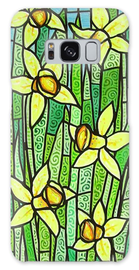Jonquils Galaxy S8 Case featuring the painting Jonquil Glory by Jim Harris