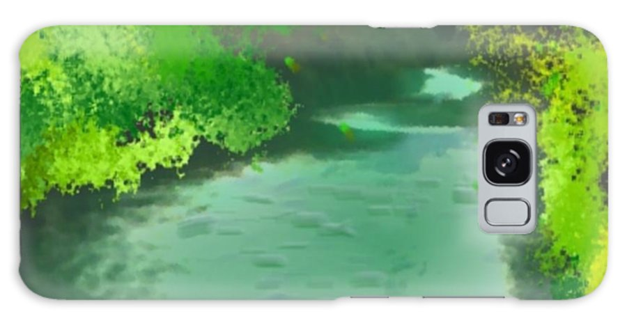 Jordan-river Galaxy S8 Case featuring the digital art Jordan River.golan Heights by Dr Loifer Vladimir