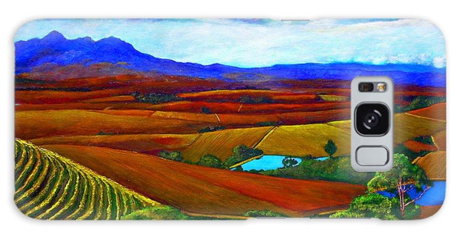 Vineyard Galaxy Case featuring the painting Jordan Vineyard by Michael Durst