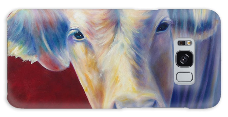 Bull Galaxy Case featuring the painting Jorge by Shannon Grissom