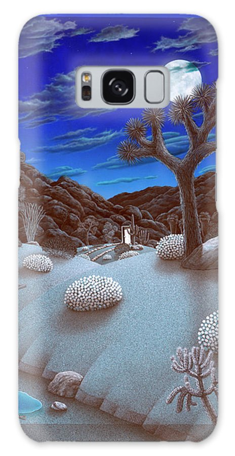 Landscape Galaxy Case featuring the painting Joshua Tree At Night by Snake Jagger