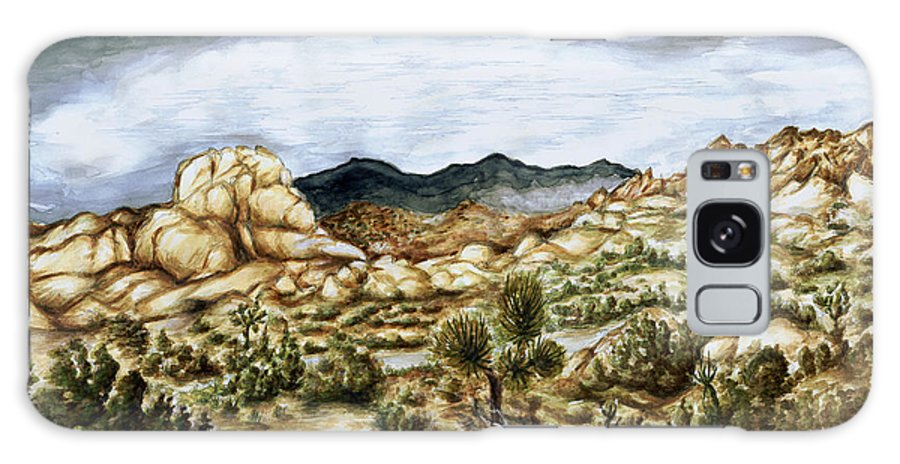 Landscape Galaxy S8 Case featuring the painting California Desert Landscape - Watercolor Art by Peter Potter