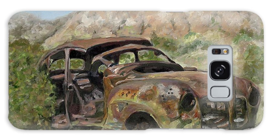 Old Car Galaxy S8 Case featuring the painting Journey's End by Freida Petty