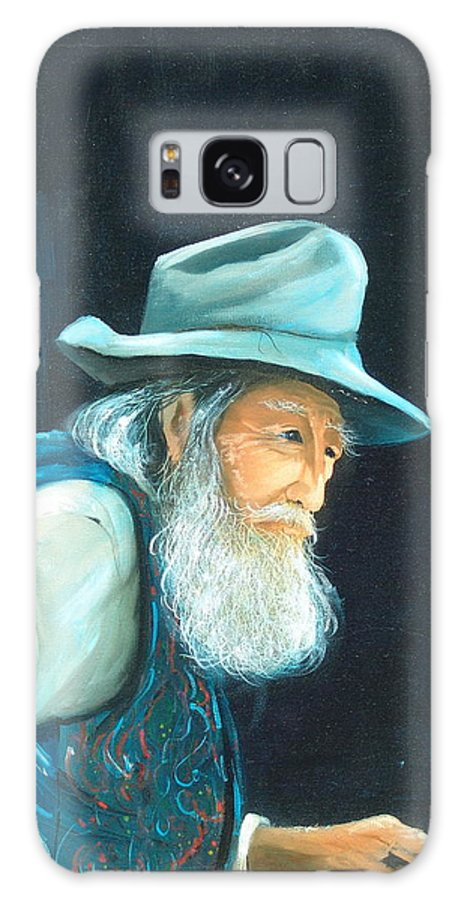 Old Man Galaxy S8 Case featuring the painting Journey's End by Sally Seago