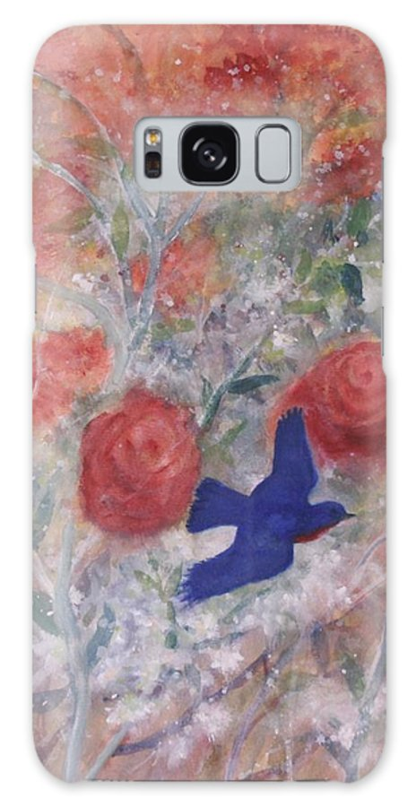 Bluebirds Galaxy Case featuring the painting Joy of Spring by Ben Kiger