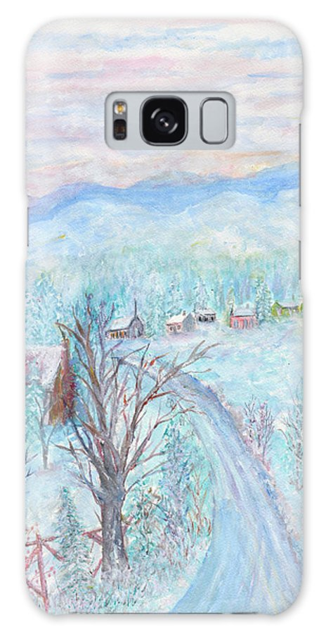 Winter Galaxy Case featuring the painting Joy of Winter by Ben Kiger