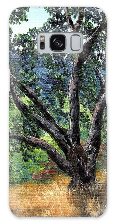 California Galaxy S8 Case featuring the painting Juan Bautista De Anza Trail Oak by Laura Iverson
