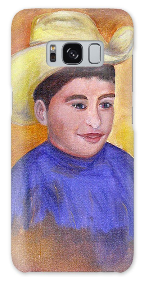 Portrait Galaxy S8 Case featuring the painting Juan, 16x20, Oil, '07 by Lac Buffamonti