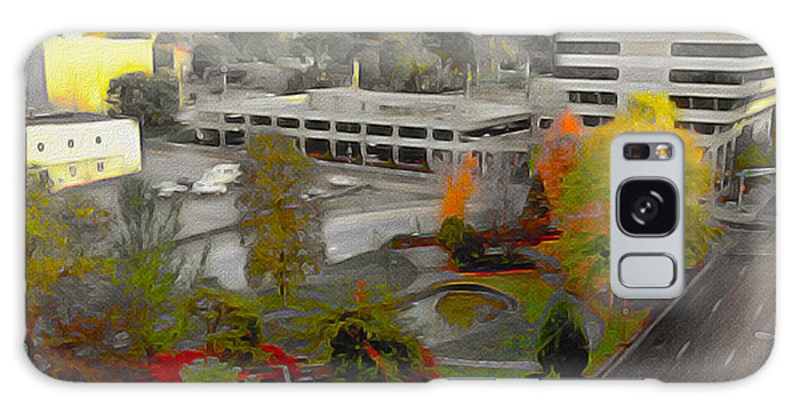 Springfield; Missouri; Ozarks; Springfield Missouri; Route 66; Ozark Jubilee; Jubilee Park; Fall Color; Autumn Galaxy S8 Case featuring the mixed media Jubilee Park by JS Stewart