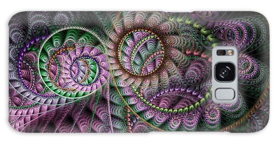 Fractal Galaxy S8 Case featuring the digital art Julian Circus Rings by Amorina Ashton