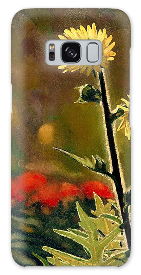 Prairie Flowers Galaxy S8 Case featuring the painting July Afternoon-compass Plant by Bruce Morrison