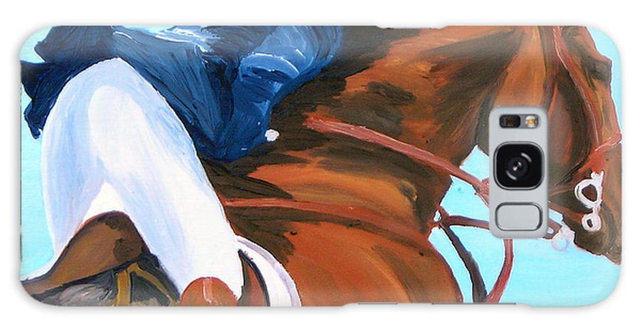 Horses Galaxy S8 Case featuring the painting Jumper by Michael Lee
