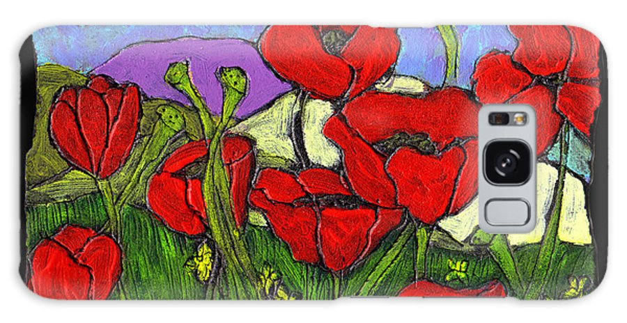 Poppies Galaxy S8 Case featuring the painting June Poppies by Wayne Potrafka