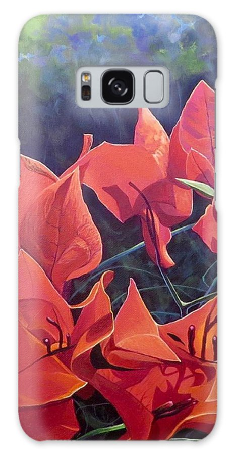 Bougainvillea Galaxy Case featuring the painting Jungle Fire by Hunter Jay