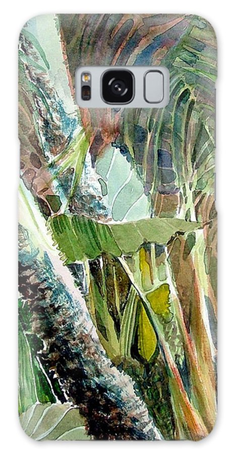 Palm Tree Galaxy S8 Case featuring the painting Jungle Light by Mindy Newman