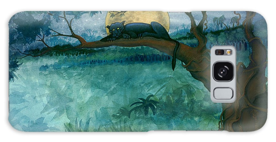 Jungle Galaxy S8 Case featuring the painting Jungle Panther by Kevin Middleton