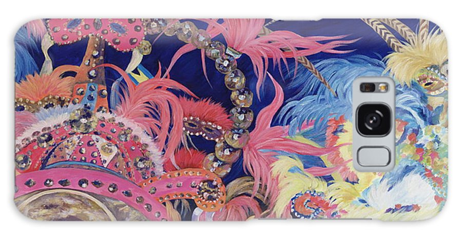 Bahamas Galaxy Case featuring the painting Junkanoo by Danielle Perry