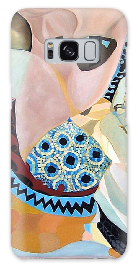 Figyrative Galaxy S8 Case featuring the painting Jurney by Antoaneta Melnikova- Hillman
