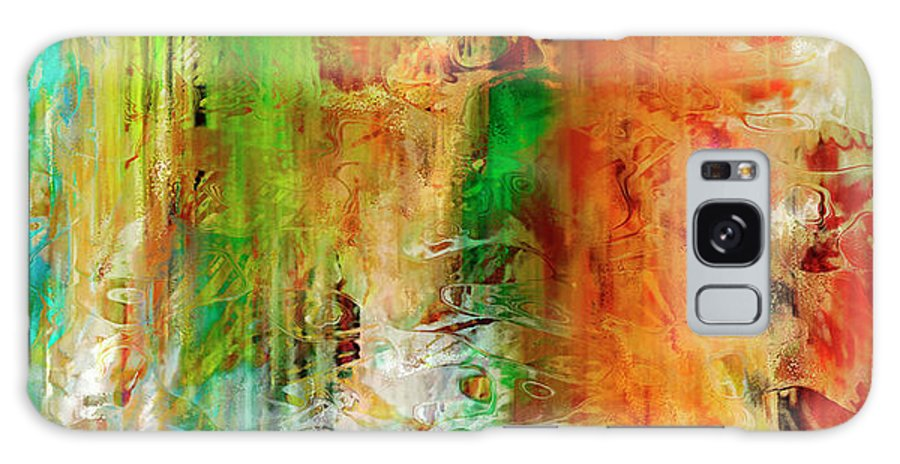 Large Abstract Galaxy S8 Case featuring the painting Just Being - Abstract Art by Jaison Cianelli
